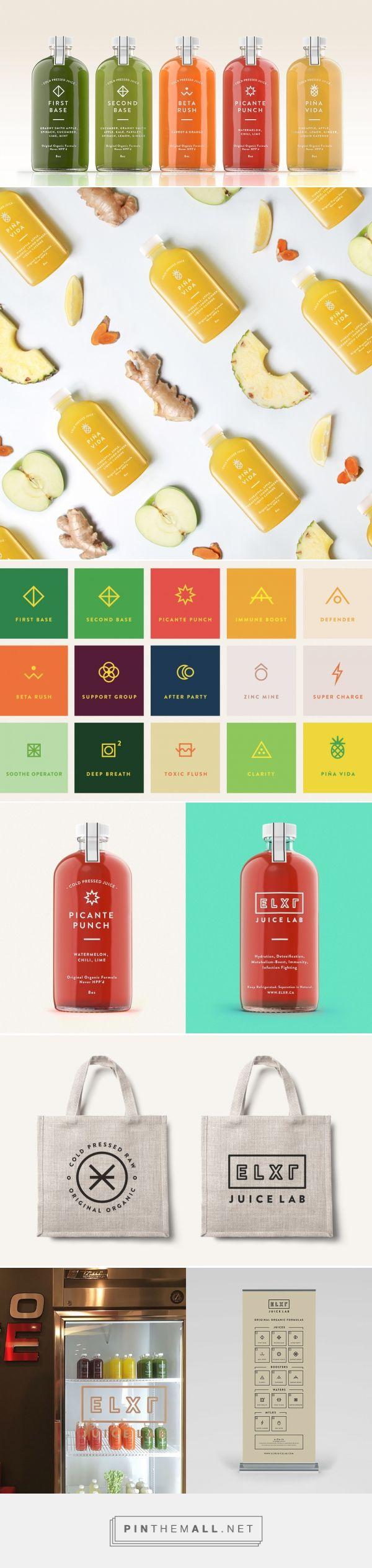ELXR Juice Lab — The Dieline - Branding & Packaging - created via http://pinthemall.net
