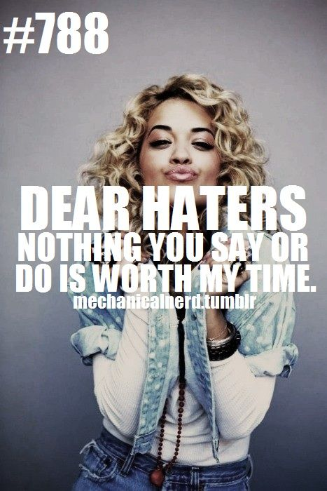 Dear Haters.... Yours Sincerely, Queen Ora.................He He He !!!!!!!!!!!!!!