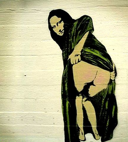 Bansky - The British street artist has left on the walls of the cities of the world Leonardo different variations of the image.