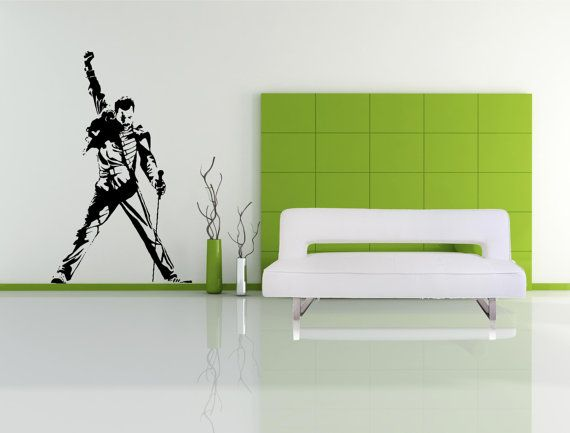 Freddie Mercury  Wall Decal  Queen  Wall art by thewalldecalshopuk, £14.99