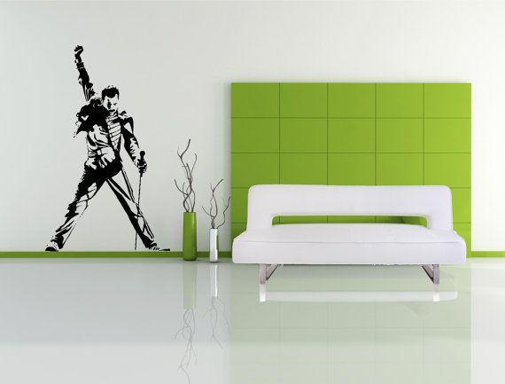 Freddie Mercury  Wall Decal  Queen  Wall art by thewalldecalshopuk, £14.99