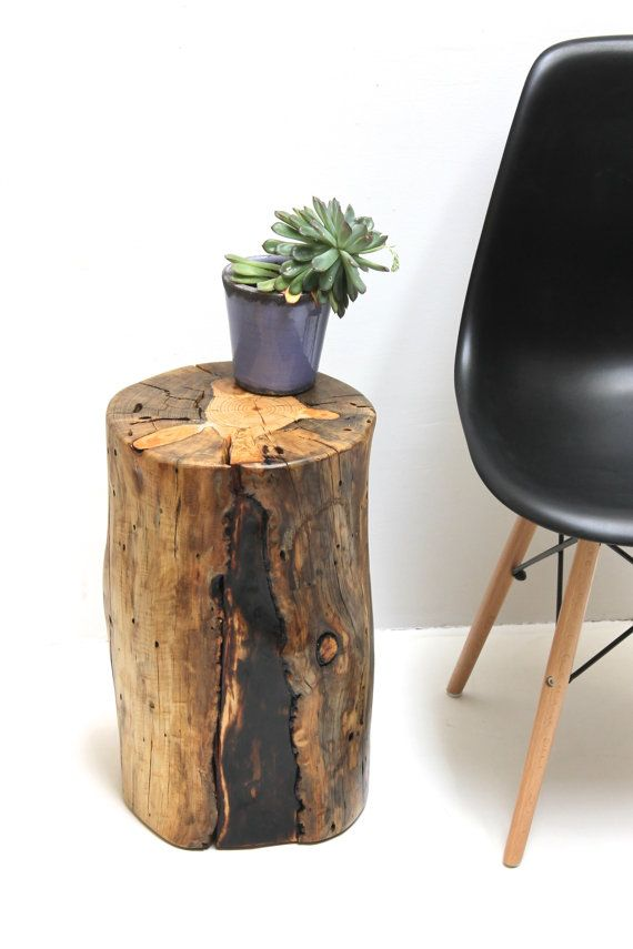 Tree Stump Table Stool Seat Trunk Salvaged Eco Little Bear Fire Legacy 800