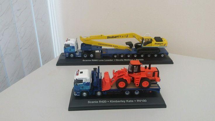 Stobart Rail job lot-Scania low loader-Komatsu excavator-Scania flatback-Doosan   eBay