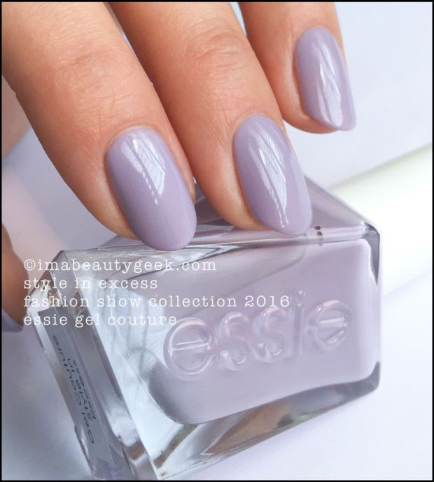 Essie Style in Excess - Essie Gel Couture 2016. All the swatches 'n stuff at imabeautygeek.com
