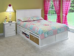 Personalize this Beadboard Panel Maple Roma Storage Bed