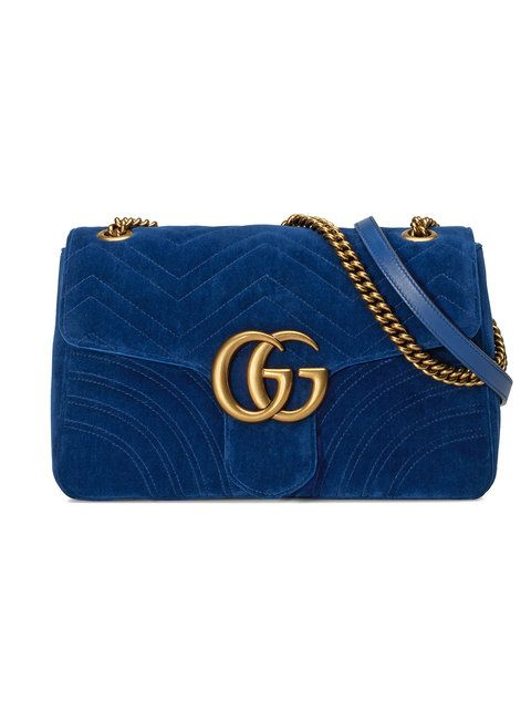 5300629aab0 Gucci GG Marmont Velvet Shoulder Bag in 2019