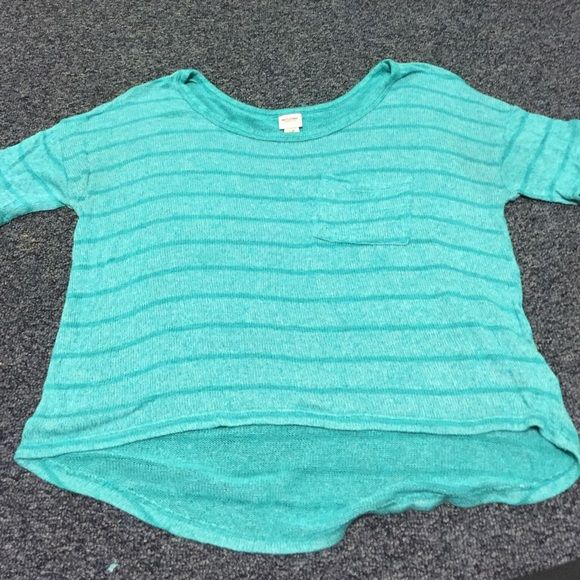 Mossimo Supply Co. Crochet tee (SIZE M) Teal, crochet shirt. A little longer in the back than front. Only worn once or twice. Mossimo Supply Co. Tops Blouses