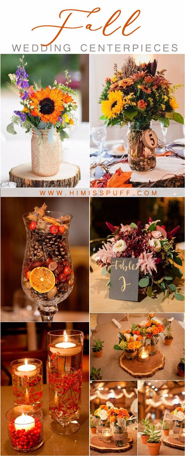 20 Fall Wedding Centerpieces to Inspire Your Big Day