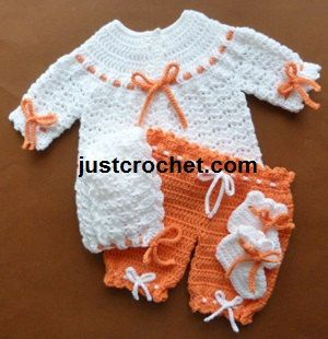 JC01A 4 Piece pram set baby crochet pattern #justcrochet