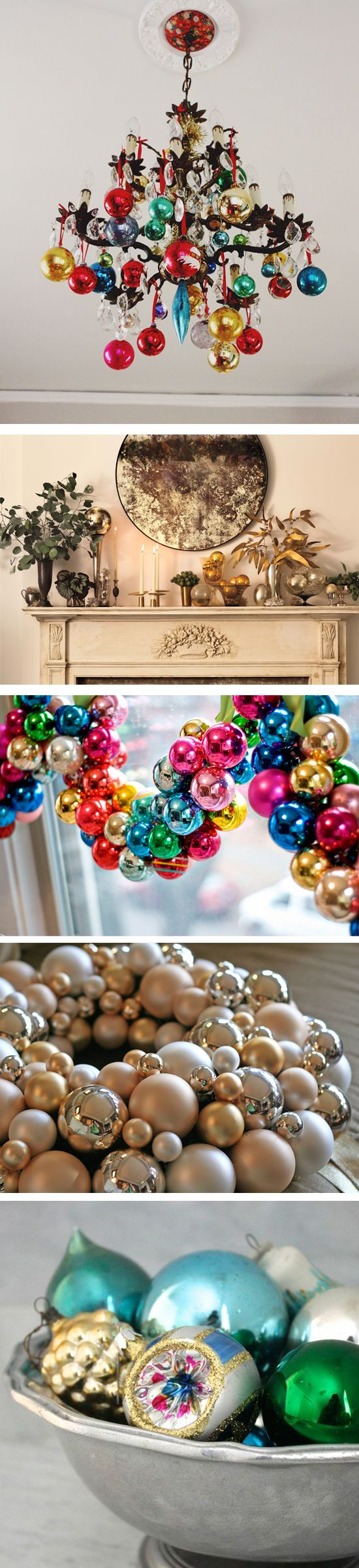 Between the nostalgic favorites and the sparkling newbies too tempting to pass up, it's easy to acquire more than a tree can hold. Luckily, we've rounded up some creative styling solutions that will put your extra ornaments to good use!