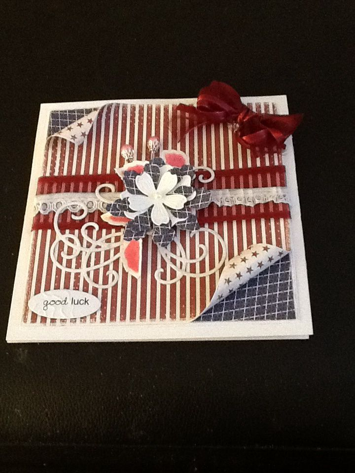 This is a hinged card the papers are from Maja