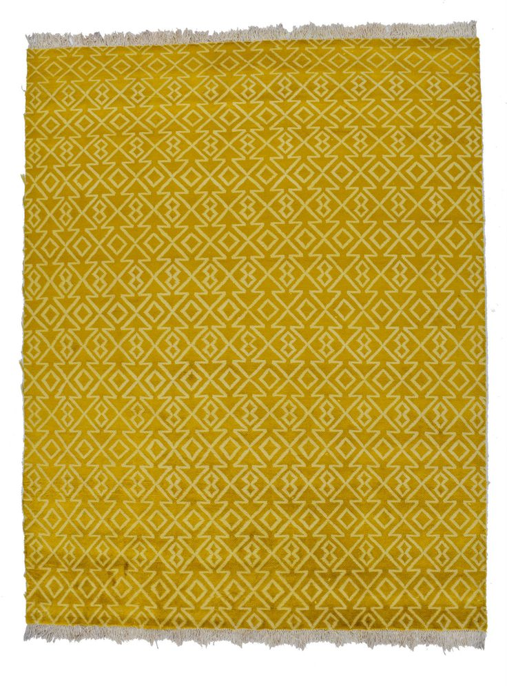 8x10 Golden Modern Area Rug
