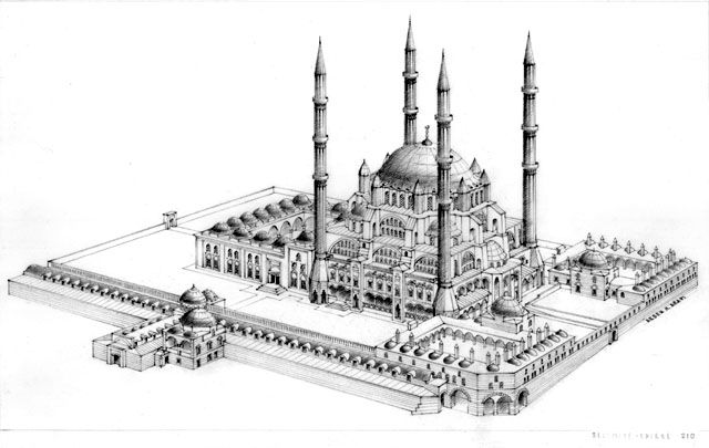 selimiye mosque drawing - Google Search
