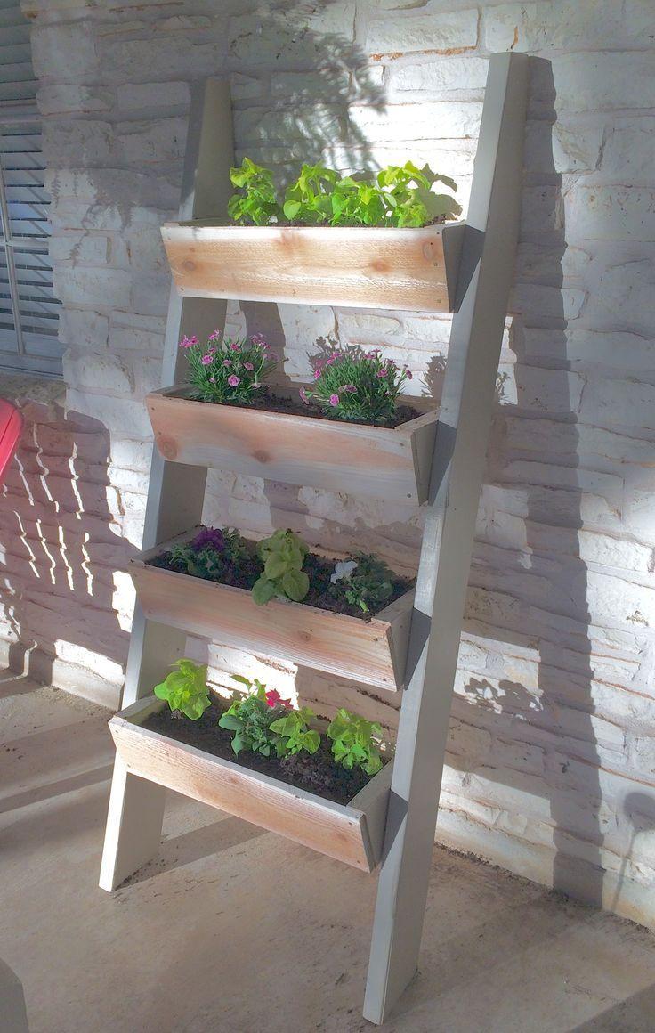einfache Leiter Pflanzer ana Weiß plant DIY wie zu bauen