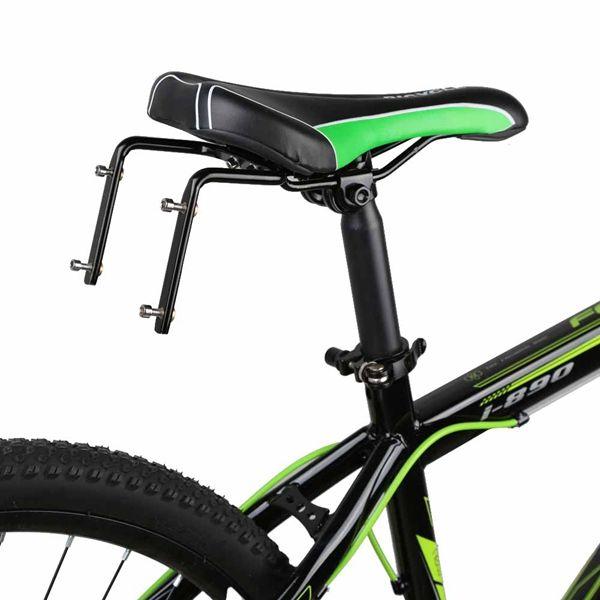 Base de montaje de adaptador de jaulas dobles de bicicleta de aleación de aluminio