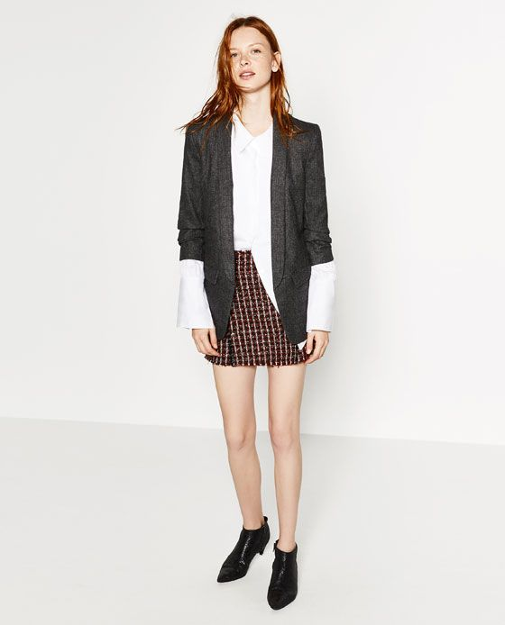 Image 2 of ROLL-UP SLEEVE JACKET from Zara