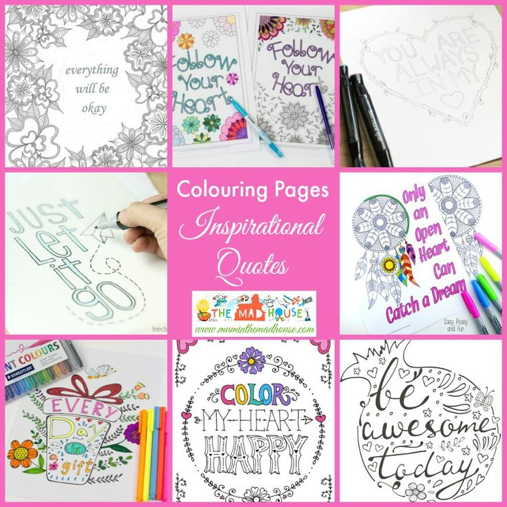 Download A Set Of Free Printable Inspirational Quotes Adult Coloring Pages You Can Also