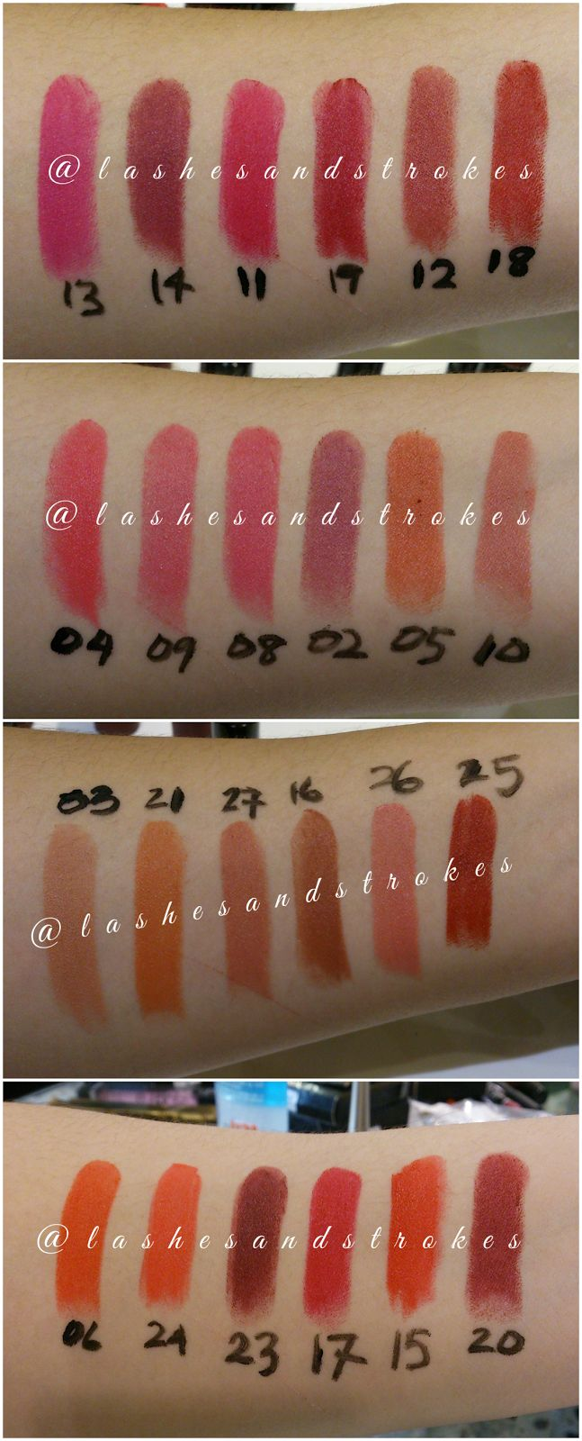 golden rose velvet matte swatches