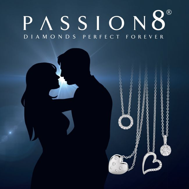 Passion8 Diamond pendants, available at York Jewellers.