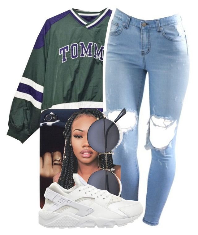 """""""~TOMMY~"""" by champangemamii ❤ liked on Polyvore featuring NIKE"""
