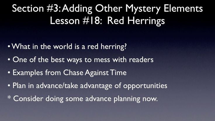 Red Herrings (A Short Mystery Writing Lesson for Kids)