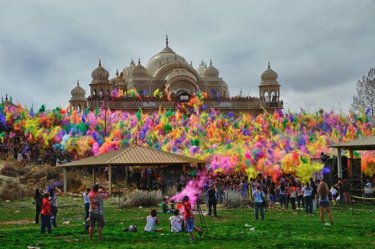 Festival of Colors, Sri-Sri-Radha Krishna Temple, Spanish Fork, Utah