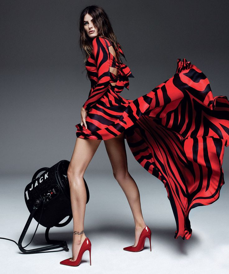rojo y negro: isabeli fontana by alique for harper's bazaar spain april 2015 | visual optimism; fashion editorials, shows, campaigns & more!