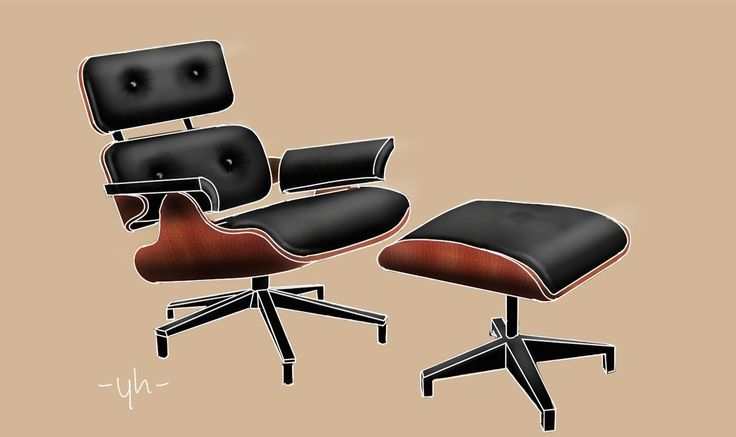 #Eames #LoungeChair. Created using #SketchBookPro #productdesign #industrialdesign #idsketching