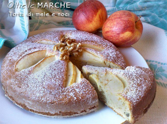 Torta di mele e noci, farina integrale, ricetta