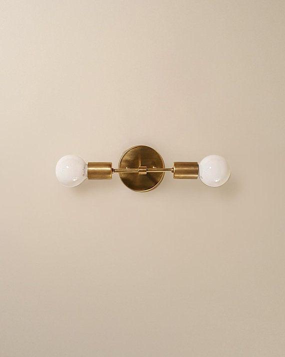 Trek Bar \u2022 dual wall sconce lamp light minimal brass custom