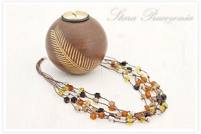 Korale, naszyjnik, biżuteria ręcznie robiona, biżuteria autorska, szklane koraliki www.starapracownia.blogspot.com www.facebook.com/starapracownia