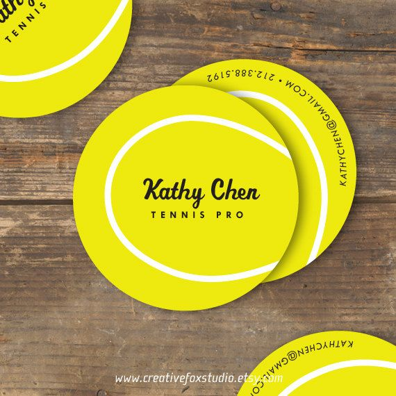 Tennis Business Cards. So cute, what can I use these for?