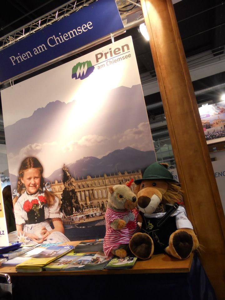 Charlotte met so many great people!  - at FESPO - The largest trade fair for holidays and travel - Zürich 2013
