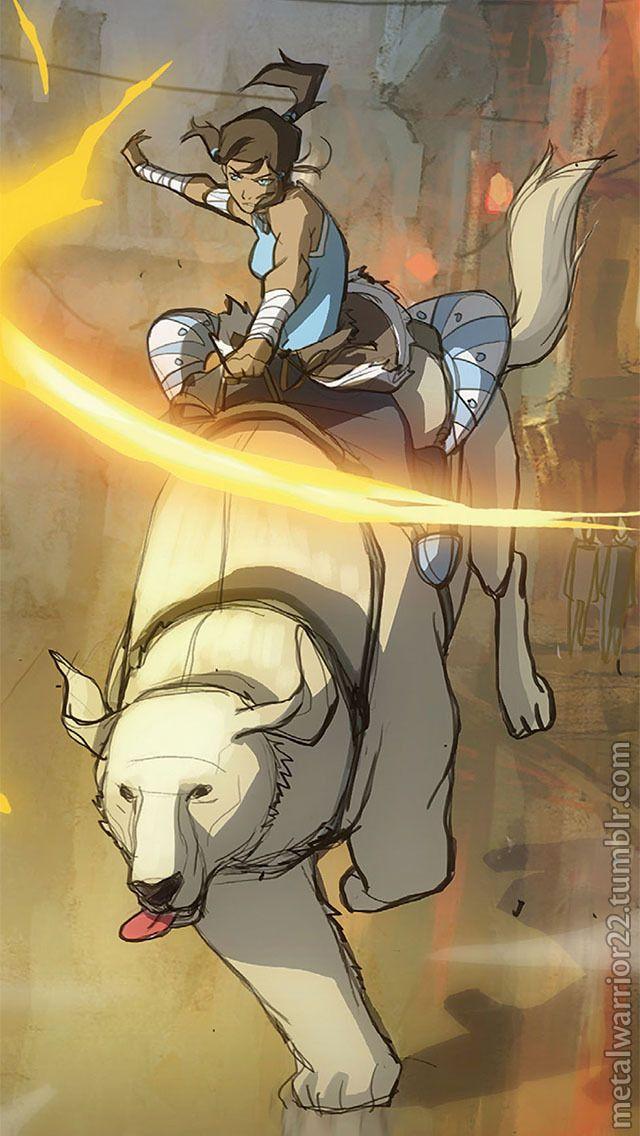 Korra And Naga With Images Avatar Airbender Korra Avatar