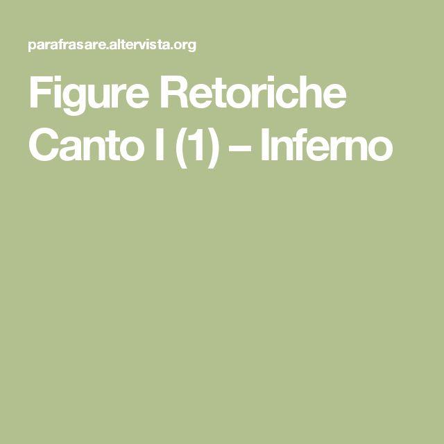 Figure Retoriche Canto I (1) – Inferno