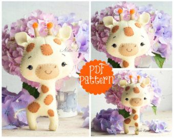 Baby Squirrel and Fox PDF Pattern by Noialand on Etsy