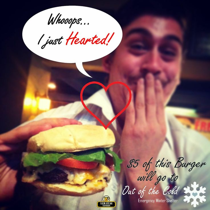 """The Twelve """"Burgers"""" of Christmas.  $5 of every feature burger goes to Out of The Cold - Emergency Shelter.  http://outofthecoldhalifax.org/"""