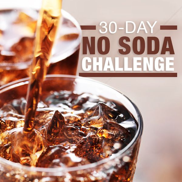 Skip the soda today and join our 30 Day No Soda Challenge!  Are you in? #nosoda #challenge #healthydrinks