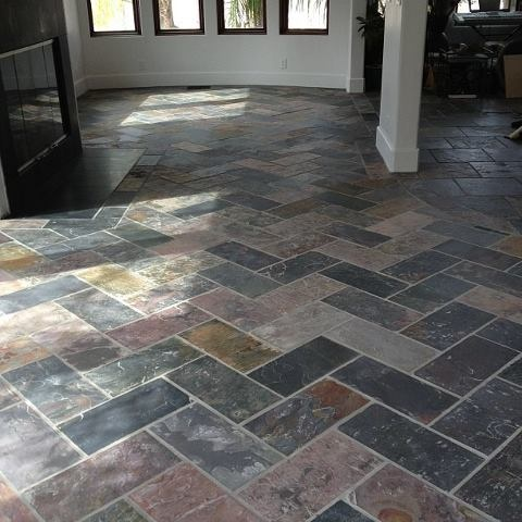 Herringbone Slate Tile My New Living Room Dream