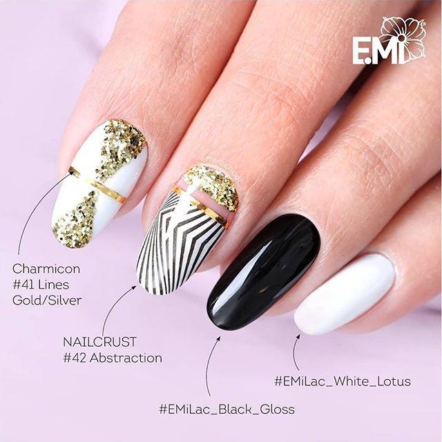 اظافر فرنسي 2019 ماركه ميك اب ارتست مكياج اظافر Cute Nail Art Designs Gold Nail Art Nail Art Designs