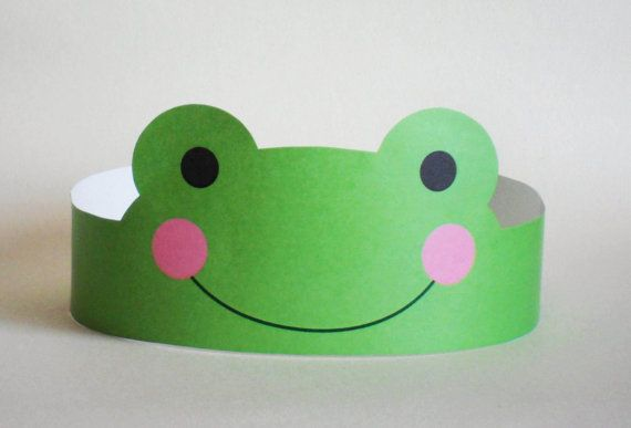 Create your own Frog Crown! Print, cut & glue your frog crown together & adjust to fit anyones head!    • A .pdf file available for instant