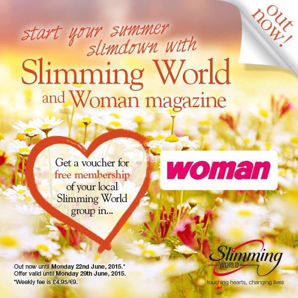 This weeks Woman mag. Free Membership. Can be used in Slimming World Da Vinci's next week and week after.