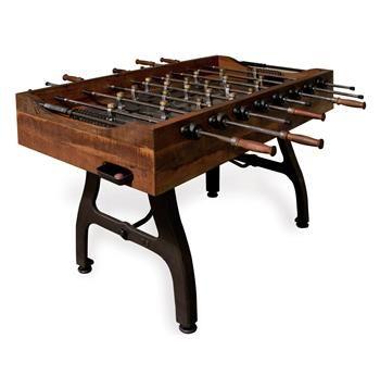 Bradley Industrial Reclaimed Wood Iron Foosball Table