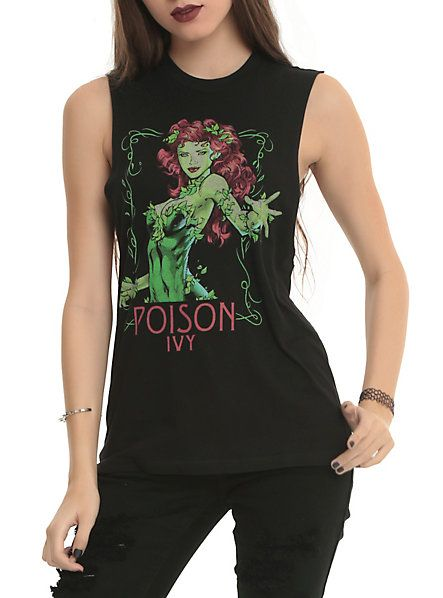 hot+topic+poison+ivy+shirt | DC Comics Poison Ivy Portrait Girls Muscle Top SKU : 10290913 $24.50 $ ...