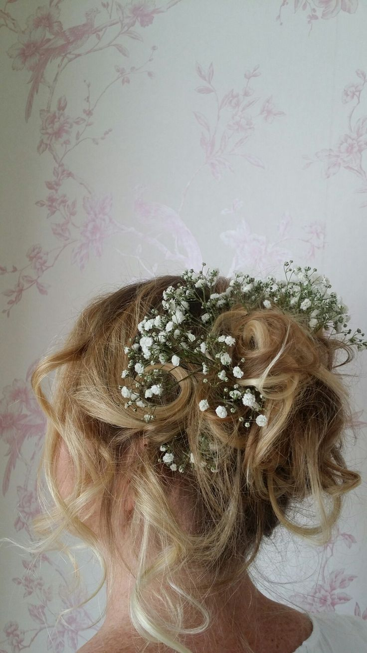 Hair in flowers