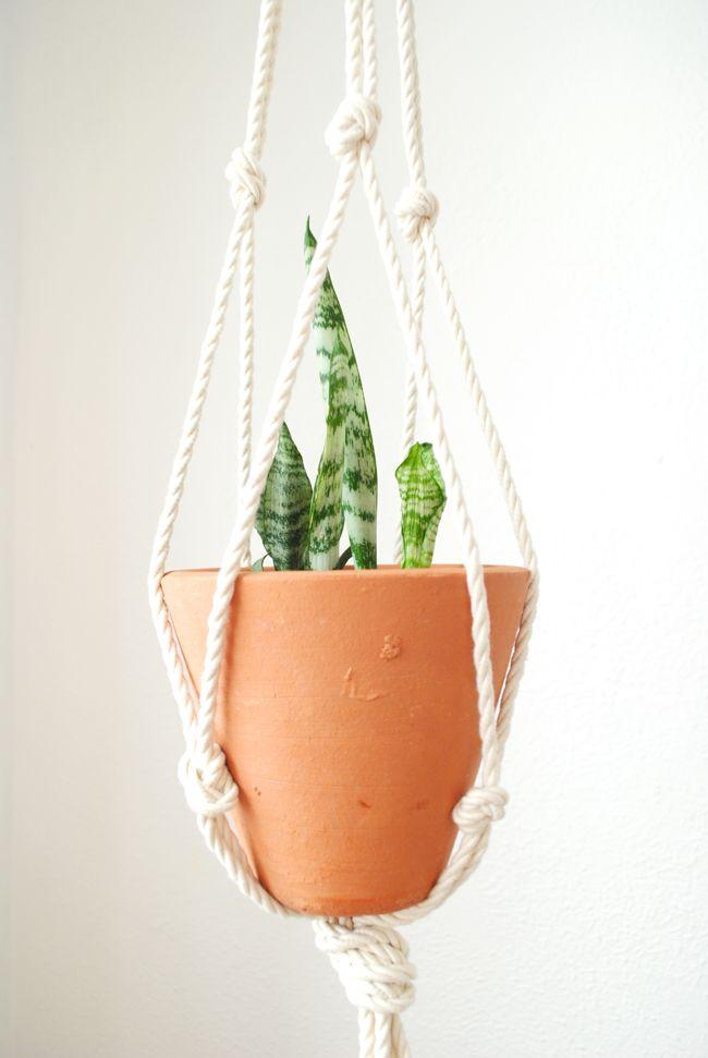 DIY: Hanger em macramê para suas plantas | Medo da Pressa