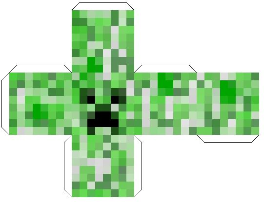 Minecraft Papercraft Head Block - Creeper | Kids ...