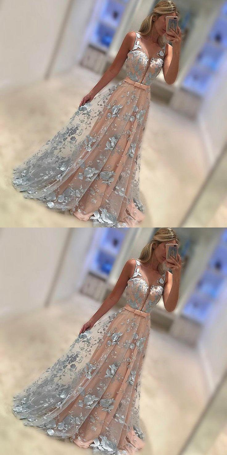 A-Line Prom Dresses,Long Prom Dresses,Prom Dresses 2017