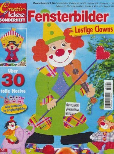 Kreatív ötletek - ablakképek bohócok - fensterbilder clowns - Muscaria Amanita - Picasa Webalbumok