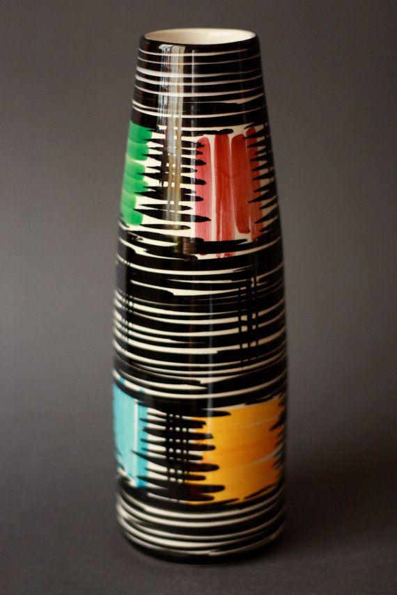 Mid Century Modern 1950s Schramberg Mallorca Vase West German Pottery